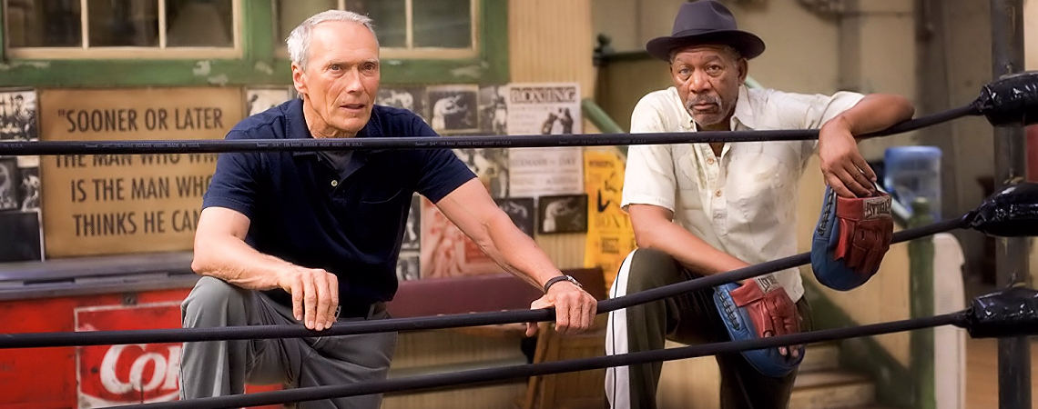 "Clint Eastwood, Morgan Freeman | ""Million Dollar Baby"" (2004) *"