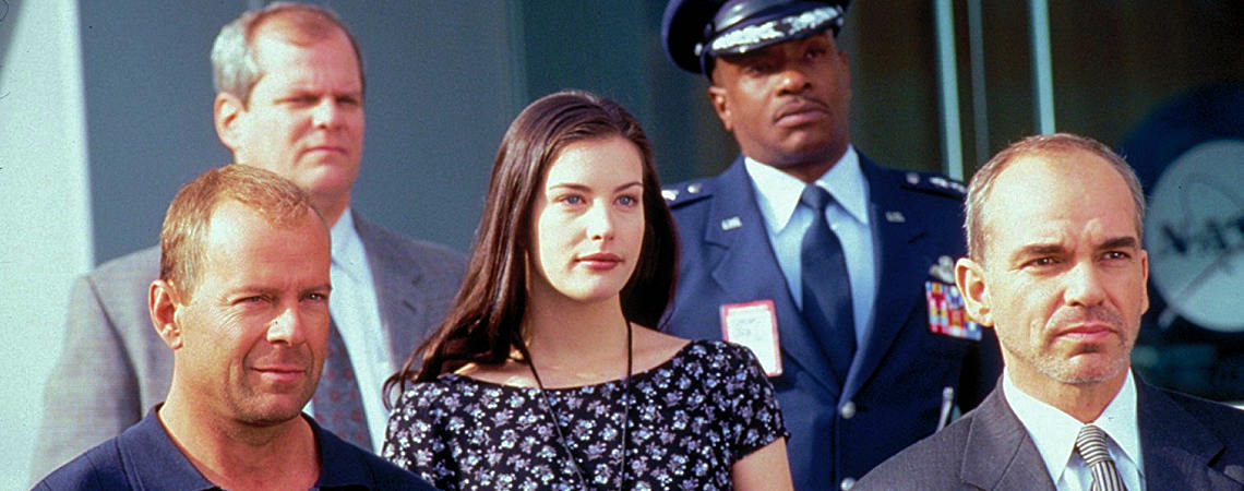"Liv Tyler, Bruce Willis, Billy Bob Thornton, Keith David, Chris Ellis | ""Armageddon"" (1998) [b]"