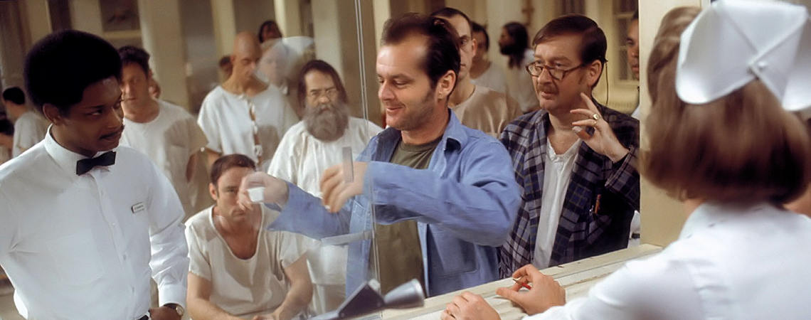 "Jack Nicholson, Christopher Lloyd, Louise Fletcher, Michael Berryman, Nathan George, Ted Markland, William Redfield, Delos V. Smith Jr. | ""One Flew Over the Cuckoo's Nest"" (1975) *"
