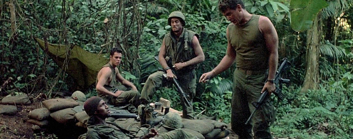 "Reggie Johnson, Kevin Dillon, John C. McGinley, Tom Berenger | ""Platoon"" (1986)"