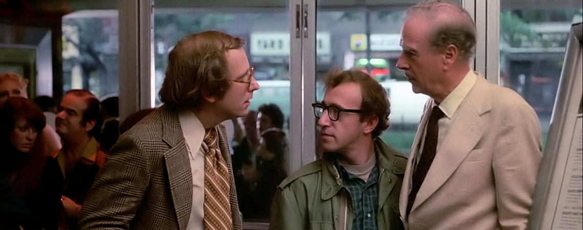 "Russell Horton, Woody Allen, Marshall McLuhan | ""Annie Hall"" (1977)"
