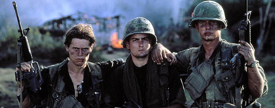 "Willem Dafoe, Charlie Sheen, Tom Berenger | ""Platoon"" (1986) *"