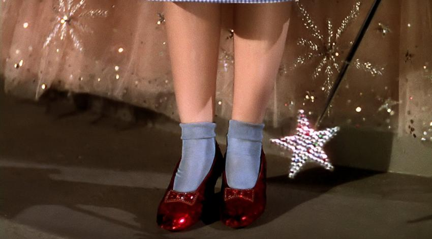 "The Ruby Slippers | ""The Wizard Oz"" (1939)"