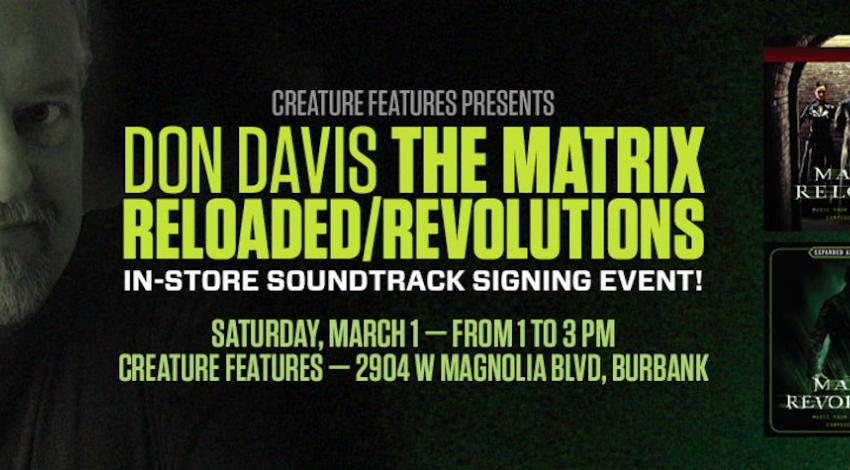 Don Davis | The Matrix Signing