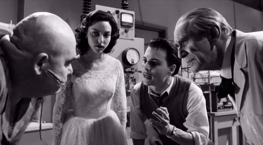"Johnny Depp, Martin Landau, Juliet Landau, George Steele | Tim Burton's ""Ed Wood"" (1994)"