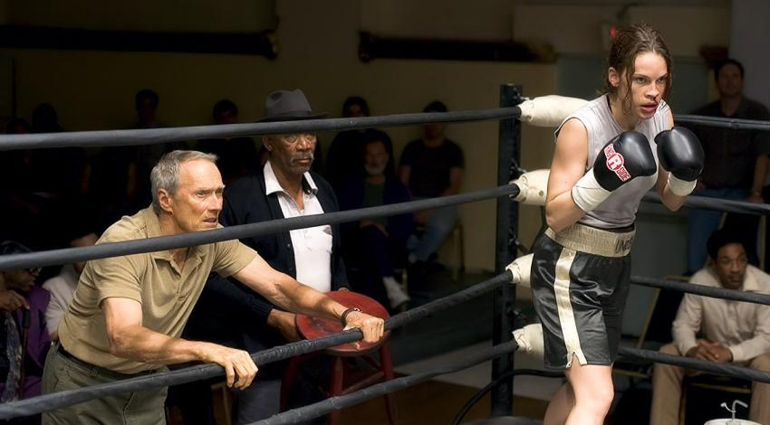 "Clint Eastwood, Hilary Swank, Morgan Freeman | ""Million Dollar Baby"" (2004) *"