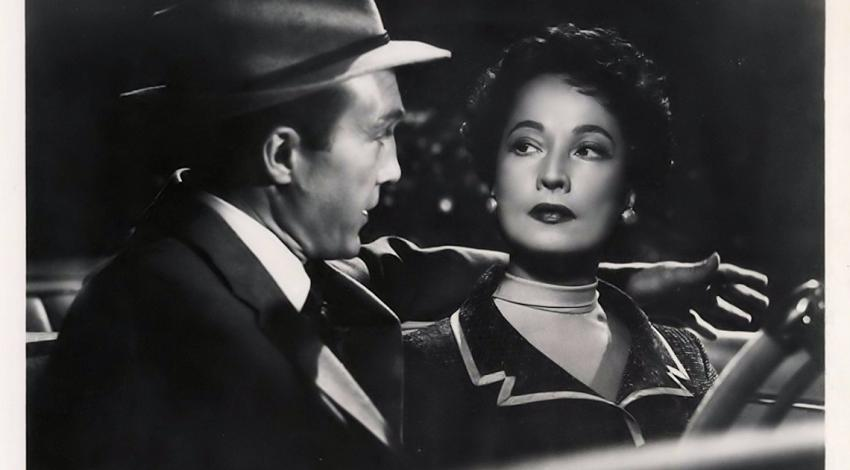 "Merle Oberon, Warren Stevens | ""The Price of Fear"" (1956)"