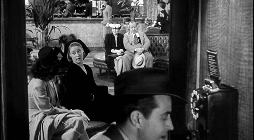 "Ray Milland, Lilian Fontaine, Lewis L. Russell, Jane Wyman | ""The Lost Weekend"" (1945)"