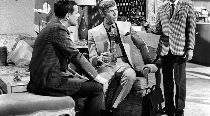 "William Daniels, James Colburn, Sheldon Collins | ""The President's Analyst"" (1967)"