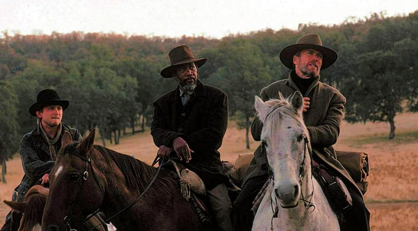 "Jaimz Woolvett, Morgan Freeman, Clint Eastwood | ""Unforgiven"" (1992) *"