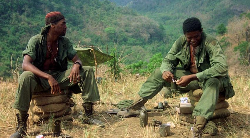 "Reggie Johnson, Forest Whitaker | ""Platoon"" (1986)"