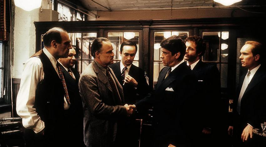 "Marlon Brando, Robert Duvall, James Caan, John Cazale, Abe Vigoda, Richard S. Castellano, Al Lettieri | ""The Godfather"" (1972)"