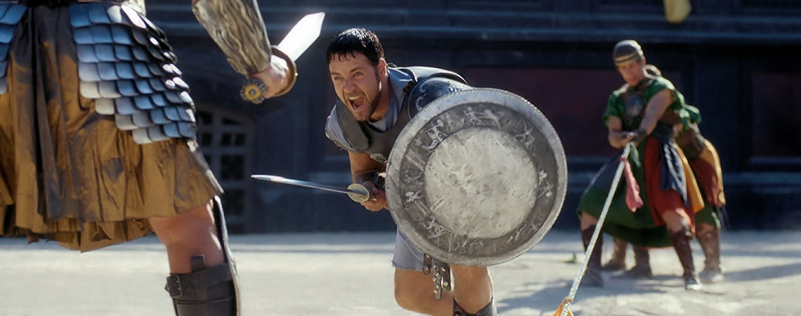 "Russell Crowe, Sven-Ole Thorsen | ""Gladiator"" (2000)"
