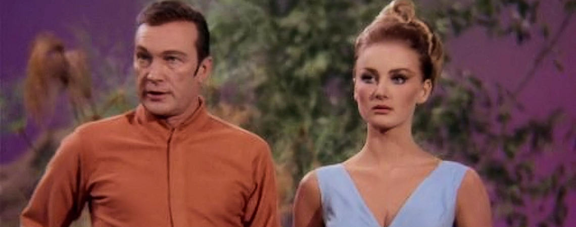 "Barbara Bouchet, Warren Stevens | ""Star Trek: By Any Other Name"" (1968)"
