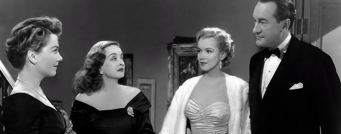 "Bette Davis, Marilyn Monroe, Anne Baxter, George Sanders | ""All About Eve"" (1950)"