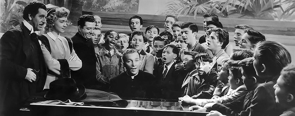 "Bing Crosby, Fortunio Bonanova, Frank McHugh, Risë Stevens, Carl (Alfalfa) Switzer | ""Going My Way"" (1944)"