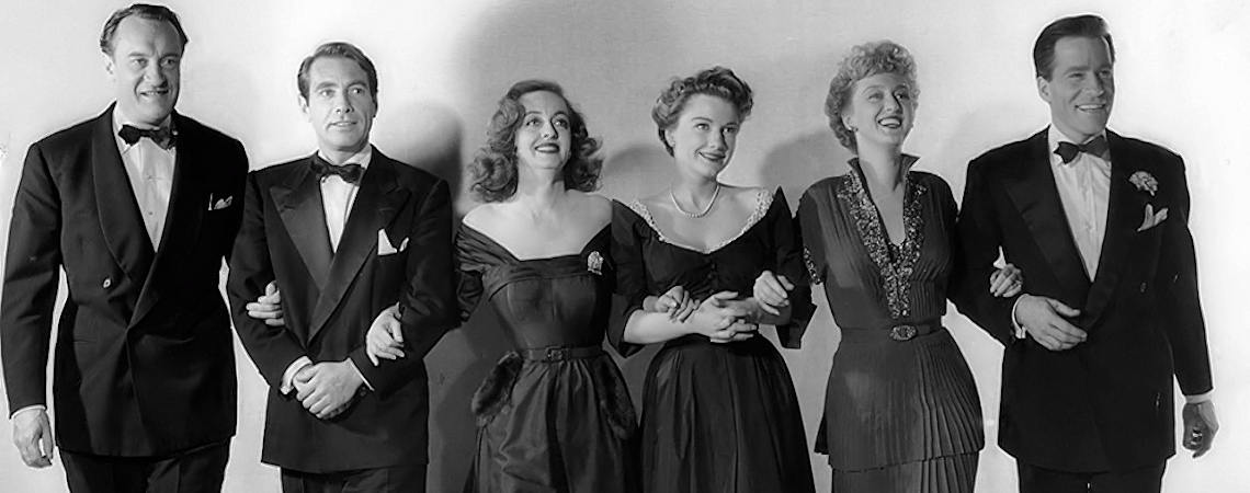 "Bette Davis, Anne Baxter, George Sanders, Celeste Holm, Hugh Marlowe, Gary Merrill  | ""All About Eve"" (1950)"