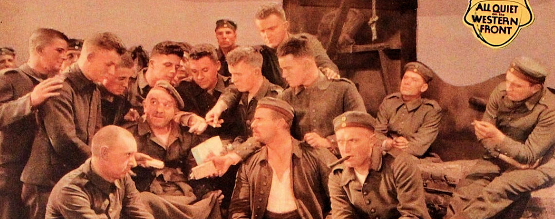 "Lew Ayres, Ben Alexander, Richard Alexander, William Bakewell, G. Pat Collins, Owen Davis Jr., Russell Gleason, Harold Goodwin, Scott Kolk, Arnold Lucy, Walter Rogers, Slim Summerville, Louis Wolheim, John Wray | ""All Quiet on the Western Front"" (1930)"