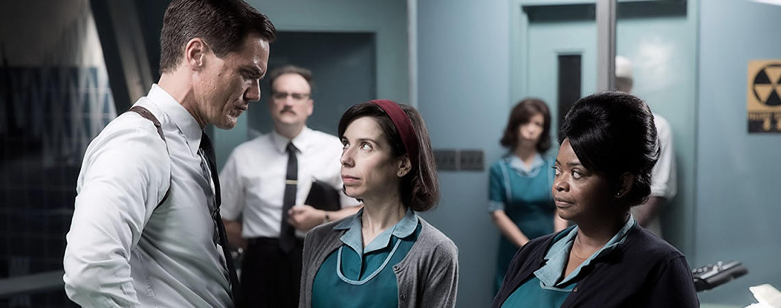 "Allegra Fulton, David Hewlett, Michael Shannon, Sally Hawkins, Octavia Spencer | ""The Shape of Water"" (2017)"
