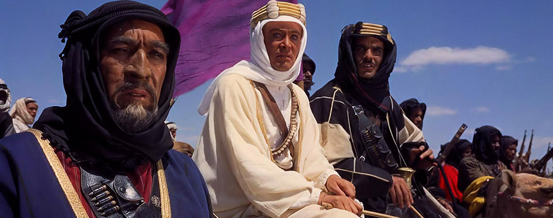 "Anthony Quinn, Peter O'Toole, Omar Sharif | ""Lawrence of Arabia"" (1962)"