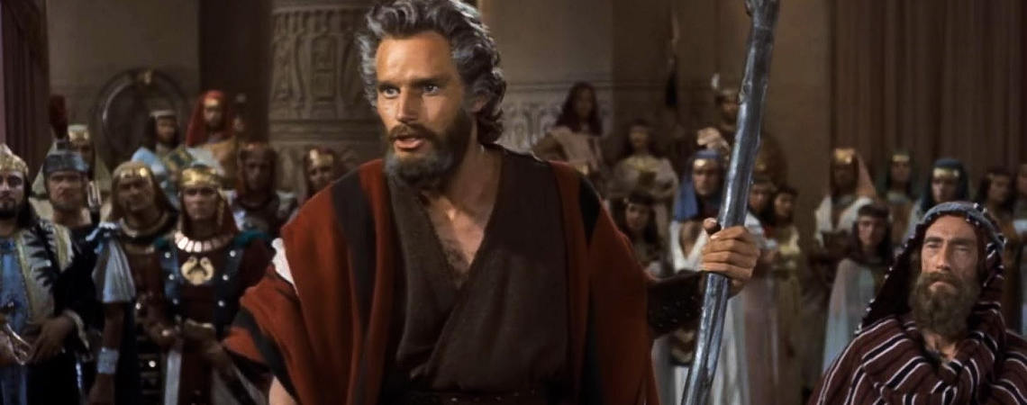"Charlton Heston, John Carradine | ""The Ten Commandments"" (1956)"