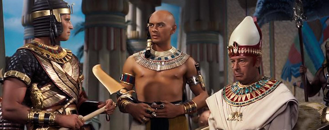 "Charlton Heston, Yul Brynner, Cedric Hardwicke | ""The Ten Commandments"" (1956)"