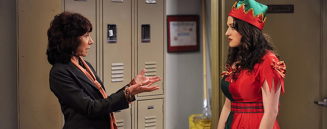 "Mindy Sterling, Kat Dennings | ""2 Broke Girls"" (2011) [d]"