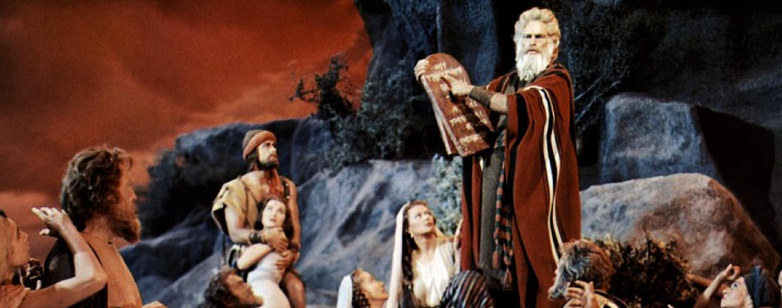 "Charlton Heston, John Carradine, Yvonne De Carlo, John Derek, Nina Foch, Donald Curtis, Olive Deering, Lawrence Dobkin, Julia Faye, Debra Paget | ""The Ten Commandments"" (1956)"