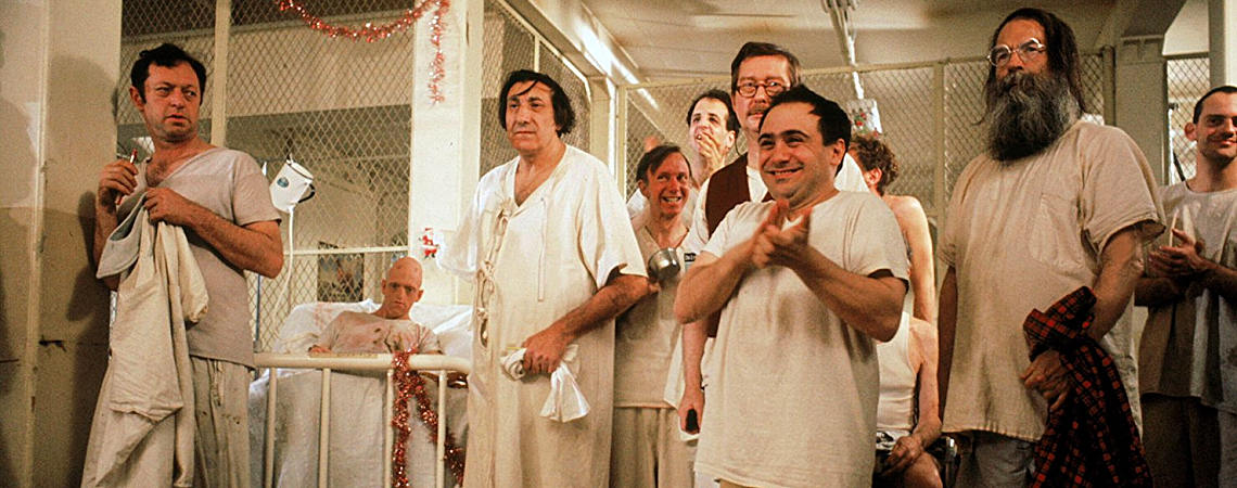 "Danny DeVito, Christopher Lloyd, Vincent Schiavelli, Michael Berryman, William Duell, Josip Elic, William Redfield, Delos V. Smith Jr. | ""One Flew Over the Cuckoo's Nest"" (1975) *"