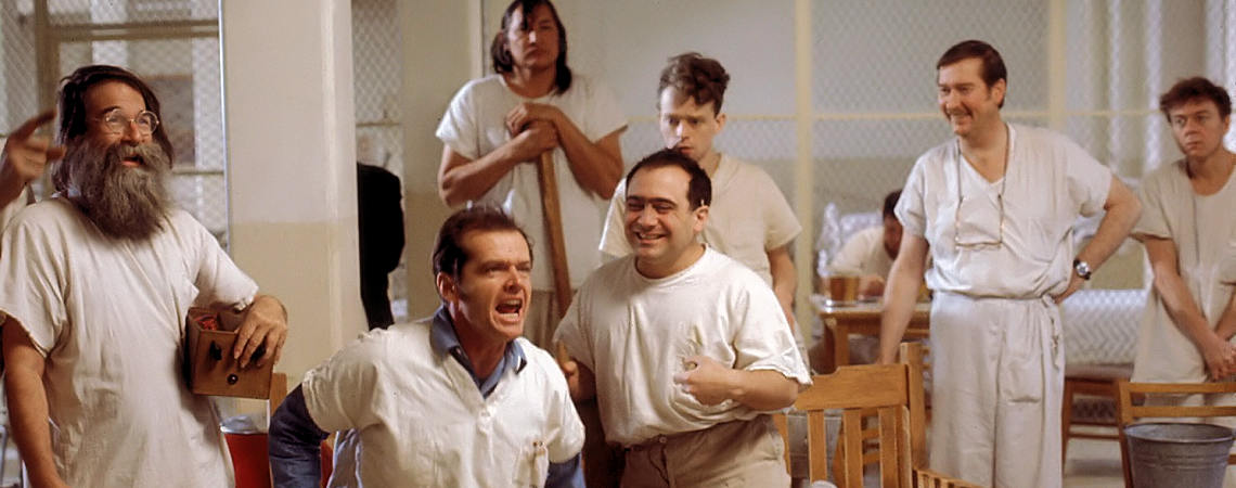 "Jack Nicholson, Danny DeVito, Brad Dourif, William Redfield, Will Sampson, Delos V. Smith Jr. | ""One Flew Over the Cuckoo's Nest"" (1975) *"