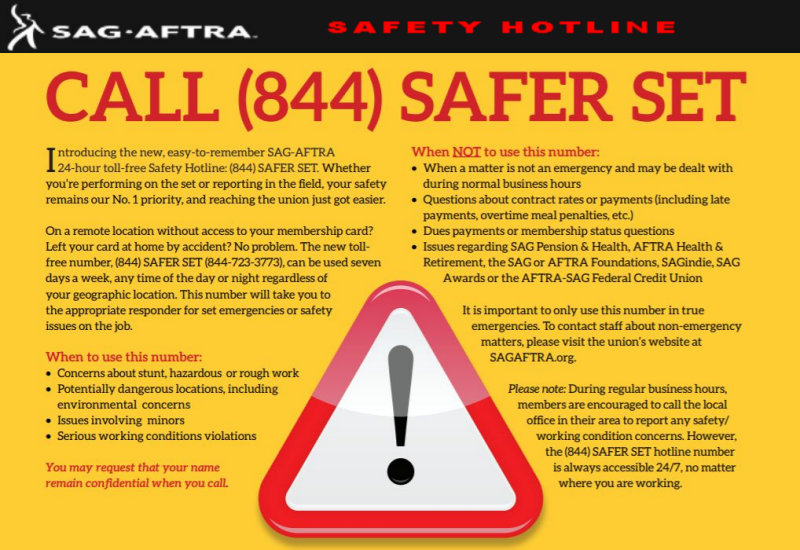 sag-aftra safety hotline