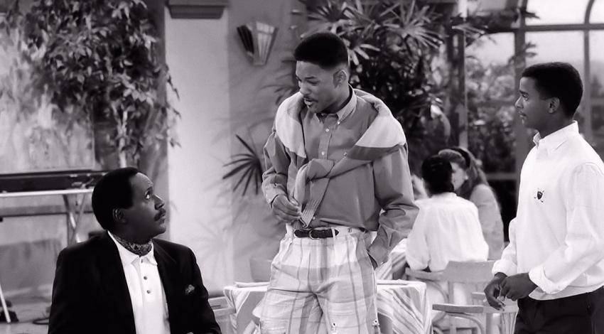 "Richard Roundtree, Will Smith, Alfonso Ribeiro | ""The Fresh Prince of Bel-Air"" (1990)**"