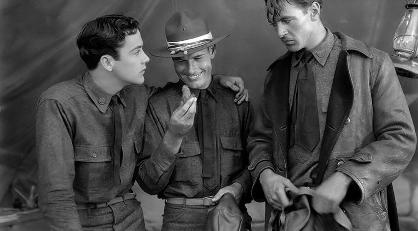 "Charles 'Buddy' Rogers, Gary Cooper, Richard Arlen | ""Wings"" (1927) *"