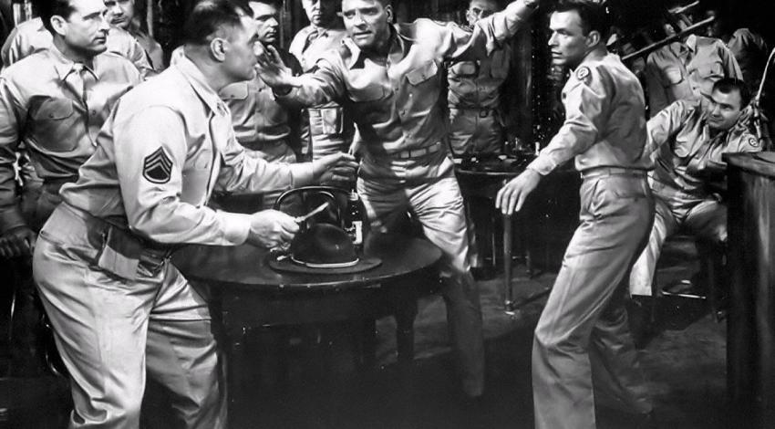 "Burt Lancaster, Frank Sinatra, Ernest Borgnine, Mickey Shaughnessy, Jack Warden | ""From Here to Eternity"" (1953)"