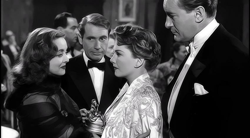 "Bette Davis, Anne Baxter, George Stevens, Gary Merrill | ""All About Eve"" (1950)"