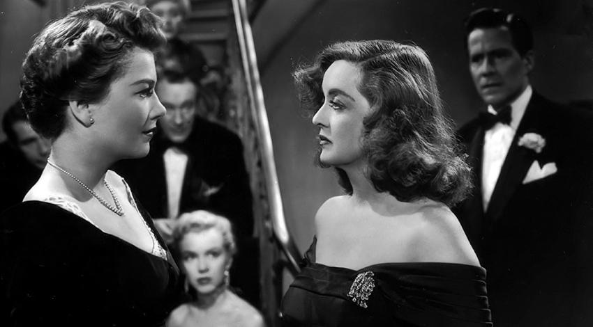 "Bette Davis, Marilyn Monroe, Anne Baxter, George Sanders, Celeste Holm, Hugh Marlowe, Gary Merrill | ""All About Eve"" (1950)"