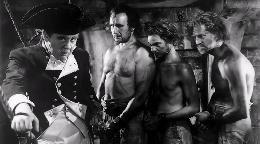 "Charles Laughton, Donald Crisp, Eddie Quillan | ""Mutiny on the Bounty"" (1935) *"