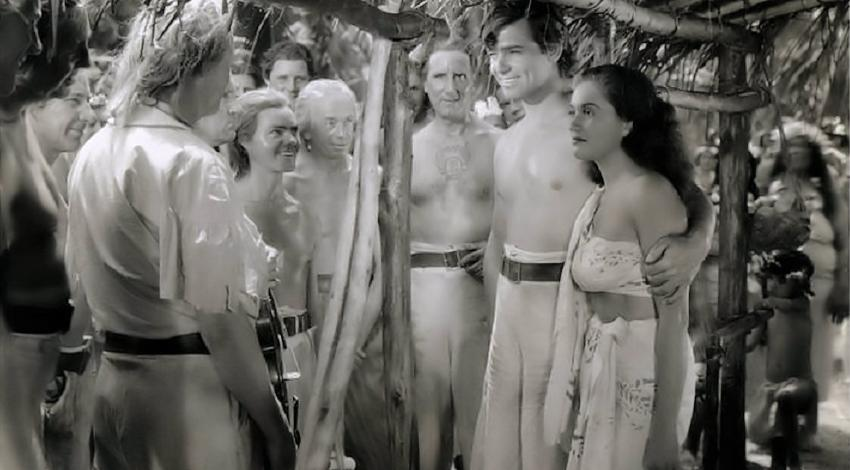 "Clark Gable, Mamo Clark, Eddie Quillan | ""Mutiny on the Bounty"" (1935)"