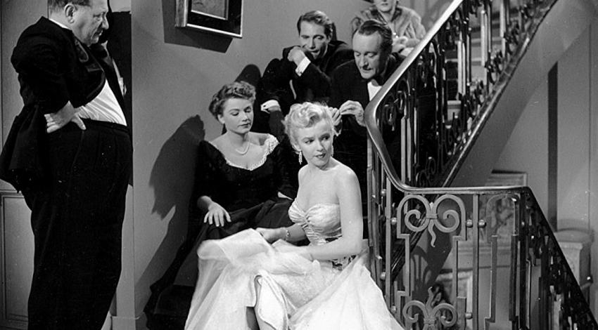 "Marilyn Monroe, Anne Baxter, George Sanders, Celeste Holm, Gary Merrill, Gregory Ratoff | ""All About Eve"" (1950)"