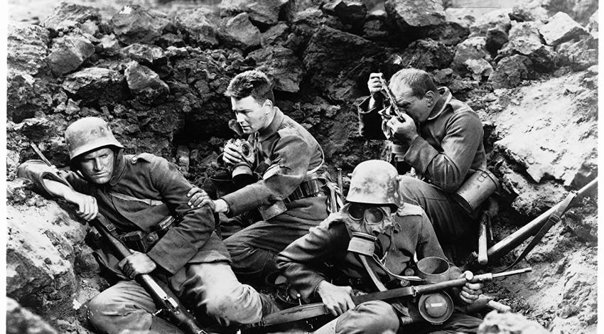"Lew Ayres, G. Pat Collins, and Louis Wolheim | ""All Quiet on the Western Front"" (1930) *"