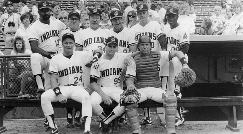 "Charlie Sheen, Tom Berenger, Wesley Snipes, Corbin Bernsen, James Gammon, Dennis Haysbert, Chelcie Ross | "" Major League"" (1989) [a]"