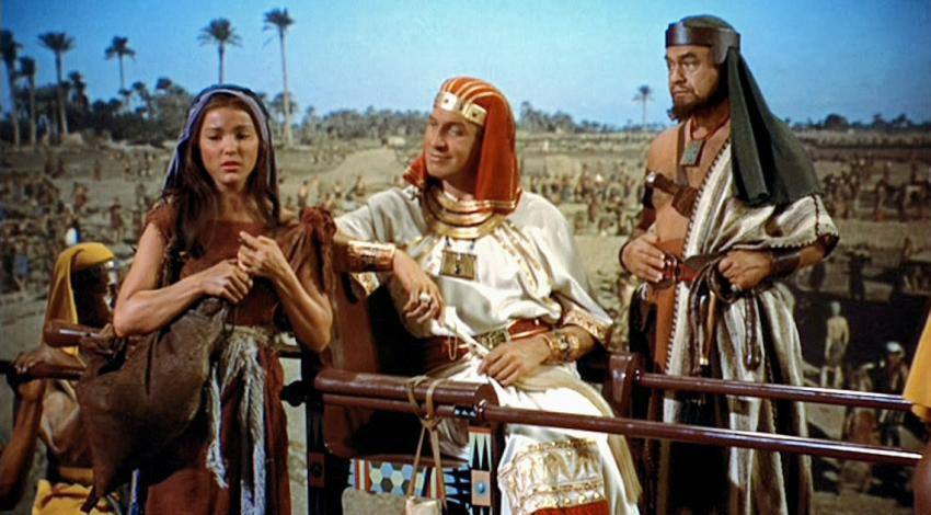 "Debra Paget, Vincent Price, Edward G. Robinson | ""The Ten Commandments"" (1956)"