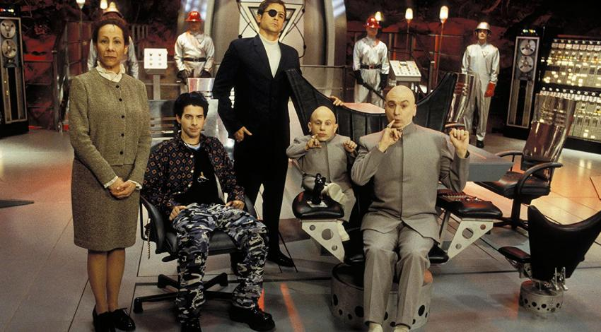 "Mindy Sterling, Seth Green, Rob Lowe, Verne Troyer, Mike Myers  | ""Austin Powers: The Spy Who Shagged Me"" (1999) [b]"