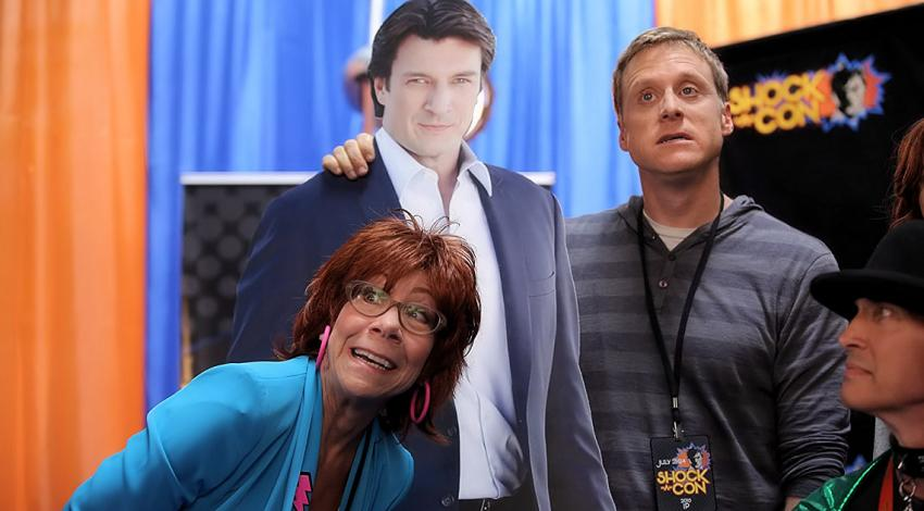 "Mindy Sterling, Nathan Fillion, Alan Tudyk | ""Con Man"" (2017)"