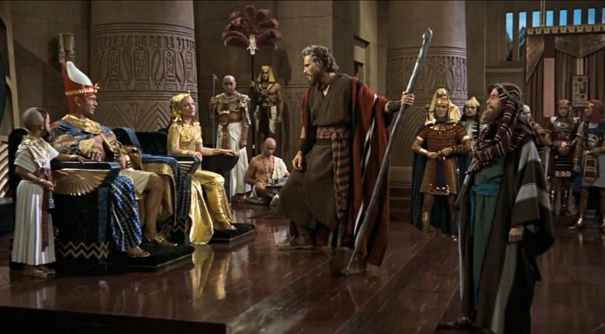 "Yul Brynner, Anne Baxter, Charlton Heston, John Carradine | ""The Ten Commandments"" (1956)"