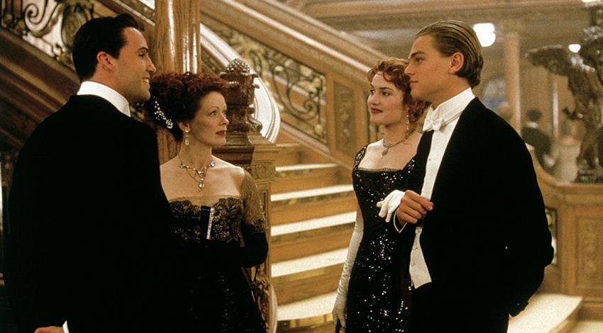 "Billy Zane, Frances Fisher, Kate Winslet, Leonardo DiCaprio | ""Titanic"" (1997) *"
