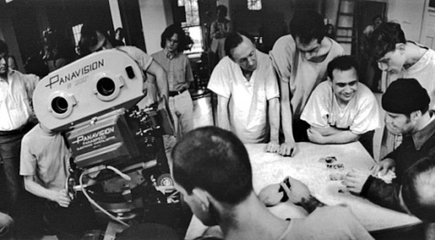 "Jack Nicholson, Danny DeVito, Brad Dourif, Christopher Lloyd, Milos Forman, Vincent Schiavelli, Haskell Wexler, Mwako Cumbuka, William Duell, Sydney Lassick, Delos V. Smith Jr., Ronald L. Vargas Jr. | ""One Flew Over the Cuckoo's Nest"" (1975)"