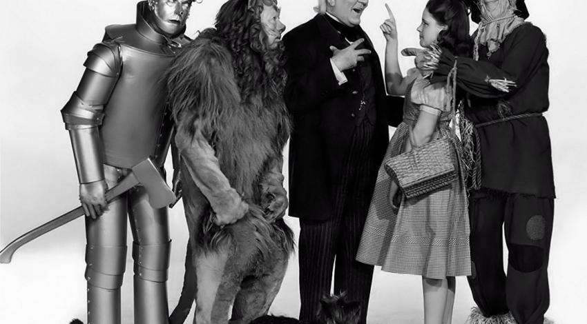 "Jack Haley, Bert Lahr, Frank Morgan, Judy Garland, Ray Bolger | ""The Wizard of Oz"" (1939)"